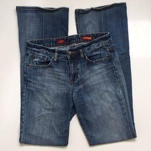 Express Medium Wash Bootleg Jean 6Long